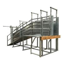Buy cheap 3242x2850x750mm Size Portable Cattle Ramp Option Safety Walk Way 50x50mm Frame Tube product