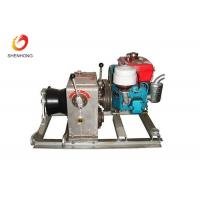 Buy cheap 3T 5T Engine Powered Diesel Cable Winch Sagging Operation In Line Construction product