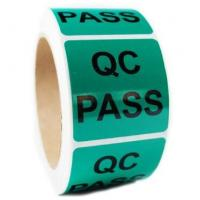 Buy cheap QC Pass Security Sticker Labels , Custom Shape Security Seal Stickers Eco friendly product