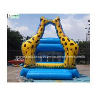 Little Kids Indoor Mini Giraffe Inflatable Jumper For Party Game , Blue