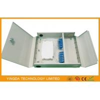 Two Door single / multi mode Fiber Optic Termination Box Cold Rolled Steel Sheet Material