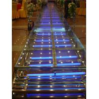 Buy quality 1.22 X 1.22 M Aluminum / Glass / Acrylic Stage Platform 3 Steps Stair at wholesale prices