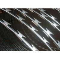 Buy cheap Steel Concertina Security Barbed Wire On Fence , Concertina Razor Wire Coil from wholesalers