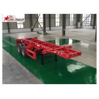 Buy cheap Leaf Spring Type 40 Ft Low Bed Trailer , 40 Foot Triple Axle Trailer For Truck product