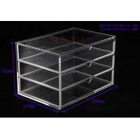 Buy cheap OEM 3 Tier Drawers Custom Store Fixture Clear Acrylic Storage For Supermarket product