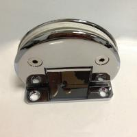 China Glass to wall 90 Degree hinge with biased fixing plate on sale