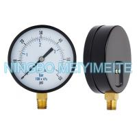 Buy cheap Steel / Brass Pressure Gauge With Screws In The Bezel 100mm 1/4 Inch Connector product