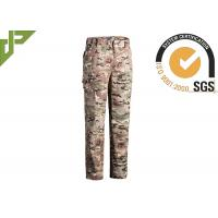 Buy cheap Multicamo Military Combat Trousers With Cargo Pockets Quick Dry Scratch Resistant product