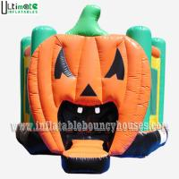 Halloween Inflatables Giant Pumpkin Kids Bounce House Double / Quadruple Stitching