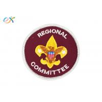 Buy cheap Red Color Round Personalised Embroidered Badges Clothing Patch For Boy Scout product