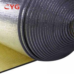 China Aluminium Foil Pe Air Conditioner Pipe Insulation Foam Ldpe Material Custom Length on sale