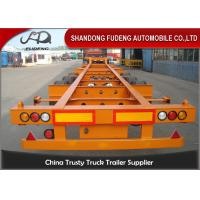 Quality Container chassis trailer , skeleton semi trailer 2 axles 20ft and 40ft with for sale