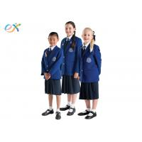 Buy cheap EEC Custom School Uniforms Blue Blazer White Shirts / Shorts Skirt For Primary Middle product