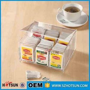 Buy cheap First class decor custom design tabletop clear acrylic tea box product