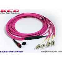 Buy cheap OM4 MPO MTP Patch Cord LC SC Connector 8 12 24 Core Pink Violet LSZH Cover from wholesalers