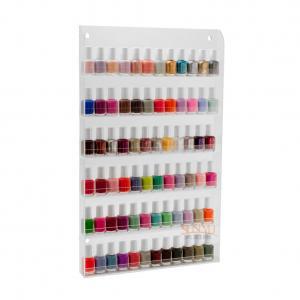 Buy cheap Custom Clear Acrylic Nail Polish Wall Rack DisplayStorage Shelf6 Tiers product