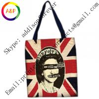 China Custom photo print cotton canvas tote bag for women on sale