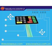 Buy cheap Textured PET Single Side Flexible PCB Membrane Switch With Led Light product
