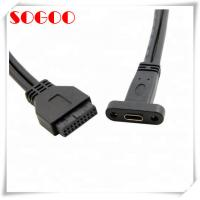 Buy cheap USB C Motherboard Cables Female USB C Type C To USB 3.0 20 Pin Cable Mounting from wholesalers