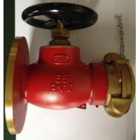 China Water or Foam Mixture Fluid Brass Valve , Angled Pattern Bronze Fire Hydrant Globe Valve on sale