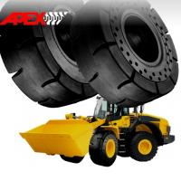 Buy cheap APEX 20.5-25 Solid Tire, Cushion Tyre for Wheel Loader, Integrated Tool Carrier, Elevating Motor Scraper product