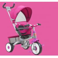 Buy cheap On Foots / Handle Baby Tricycle Bike Adjustable Canopy With Parent Push Handle product