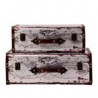 Buy cheap Customized design home decor goods storage reproduction antique vintage travel from wholesalers