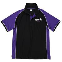 Buy quality Purple / Black Cool Dry Unisex Short Sleeve Sublimation Polo Shirt  Children - Adult at wholesale prices
