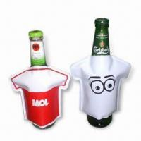 Buy cheap Bottle Coolers in T-shirt Design, Made of PVC, Non-toxic, Portable, Reusable and Easy to Use product