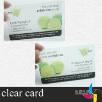 Buy quality CMYK Semi Transparent Plastic Business Cards Gold Hot Stamping at wholesale prices