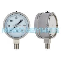 Buy cheap Adjustable Pointer Stainless Steel Pressure Gauge Laser Argon Welding With Back Case product