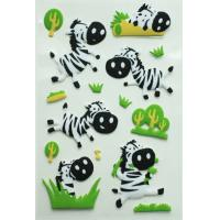 Eco-friendly Colorful Puffy Stickers Japan Style Dimensional For Kids