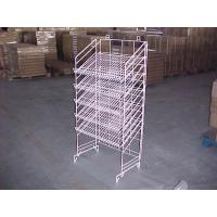 Buy cheap Adjustable Height Metal Wire Display Racks For Supmarket Folding Feature from wholesalers