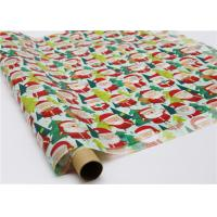 Buy cheap Gifts Paper Printed Decorative Wax Paper Santa Claus Pattern One Side Coating product