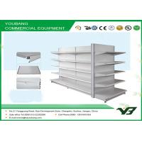 Buy quality Retail Gondola Supermarket Display Shelving With Punched Holes for chain stores at wholesale prices