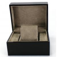 Buy cheap Piano Paint Matte MDF Wooden Jewelry Box Grey Interior With Removable Cushions product