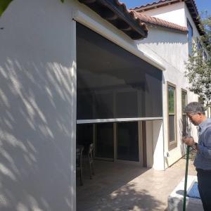 Buy cheap Powder Coated Aluminium Frame Motorized pet mesh screen for Terrace product