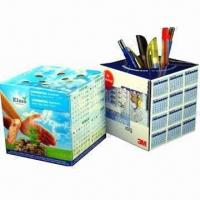 Buy cheap Promotional Pop-up cube Paper Pen Holders with Offset Printing product
