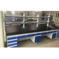 Buy cheap Floor Mounted / C Frame Chemical Laboratory Furniture Lab Island Bench Standard Height product