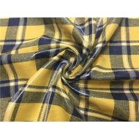 Buy cheap 0.70mm Transparent Tpu Leather Compounded With Yellow Blue Grid Yarn Dyed Fabric product