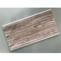 Buy cheap Recyclable Brown PVC Wood Panels Easy Maintenance 2.5kg/Sqm - 3kg/Sqm product