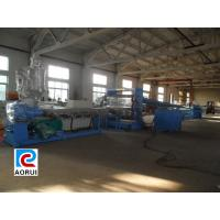 Buy quality Hollow Grid Plastic Sheet Extrusion Line , Double Screw PP / PE Sheet Extrusion Machinery at wholesale prices