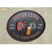 Buy cheap Personalized Antique Wall Art Sign Pub Sign Wall Decor Oval Shape Guitar Lounge product