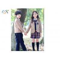Buy cheap Winter Custom School Uniforms Blazer Coat Long Sleeve For Girl And Boy product