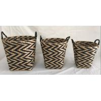 Buy cheap Rush woven storage bin, storage tubs, storage basket, set of 2 trash basket product