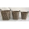 Buy cheap Rush woven storage bin, storage tubs, storage basket, set of 2 trash basket from wholesalers