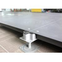 Buy cheap SGS Network False Floor , Bare Finish Office Cementious Infill Steel Raised Floor product
