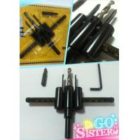 Buy cheap tungsten carbide tipped adjustable circle cutter size 30mm~120mm free doughnut product