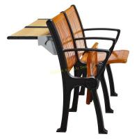 Buy cheap Walnut Wood Interlocked Folding Up Metal Leg Amphitheater Chairs With Hidden from wholesalers
