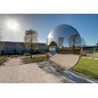 Buy cheap Morden Highly Polished Stainless Steel Sculpture Torus For Lawn Featuring product